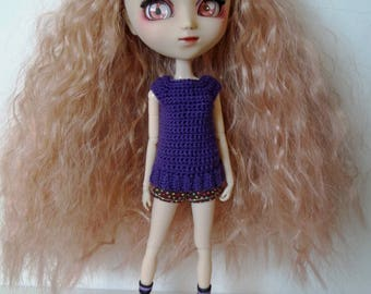 Purple crochet Top for Pullip dolls