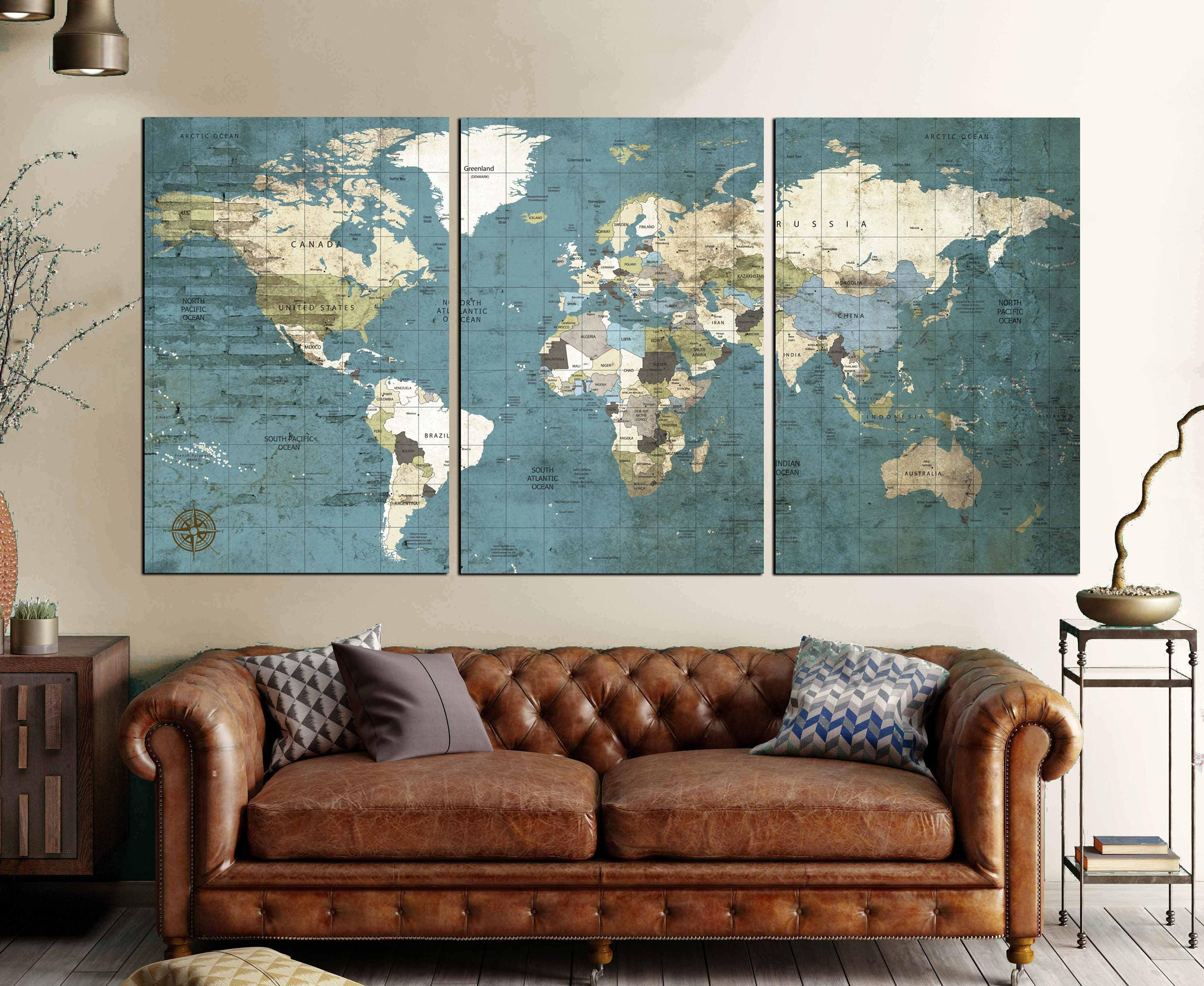 Large world map vintage canvas printworld map wall artworld map large world map vintage canvas printworld map wall artworld map push pin world travel mapworld map vintageworld map canvaspolitical map gumiabroncs Image collections