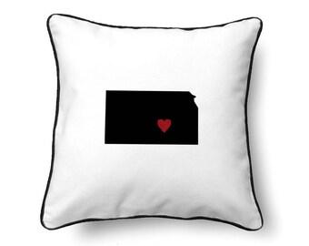 Kansas Pillow - Kansas Gift - Kansas Map - KS State Map