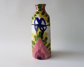 Marei Keramik vase with floral decor