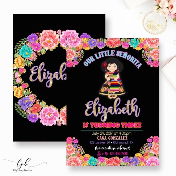 fiesta birthday invitation mexican fiesta birthday, Birthday invitations