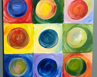 Non Objective/Abstract colorful painting