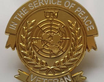 united nations lapel pin badge