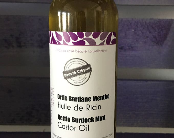 Castor Oil Infused with Nettle, Burdock and Peppermint Essential Oil - Stimulating, Hair Growth and aigainst Hair Loss - 120ml