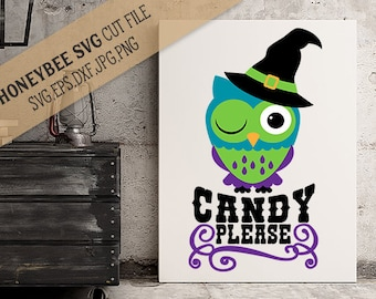 Candy Please Owl cut file and Printable