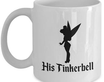 Disney His Tinkerbell Gift Mug Her Peter Pan Wendy Tink Coffee Cup Couple Love Gifts
