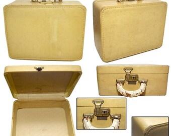 Small 1940s Suitcase / Vintage Suitcase / Pin-up Suitcase / Rockabilly Suitcase / Burlesque