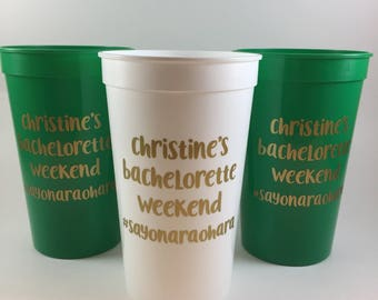 Personalized Bachelorette Cups - Bachelorette Cups - Bachelorette Party Favors - Bachelorette Party Cups - Personalized Party Cups - Swag
