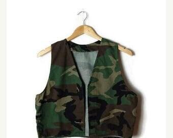 ON SALE Vintage Camouflage Vest/Army/Military*