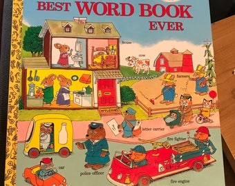 NEW Richard Scarry's Best Word Book Ever, Golden Books Hardcover 71 pgs