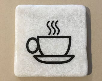 Coffee Cup Decorative Coaster Tile Quote Coaster Trivet Home Or Dorm Room Decor