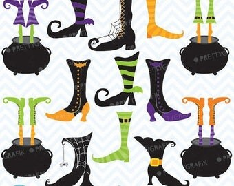 80% OFF SALE witch feet clipart commercial use, vector graphics, digital clip art, digital images - CL552