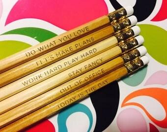 LET'S MAKE PLANS Pencil Set of Six