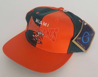 Vintage Miami Hurricanes G Cap Deadstock Snapback Hat NCAA VTG