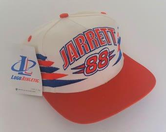 Vintage Dale Jarrett #88 Logo Athletic Deadstock Snapback Hat NASCAR VTG