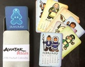 Avatar the Last Airbender Minis, 2018 Pocket Calendar in a Tin