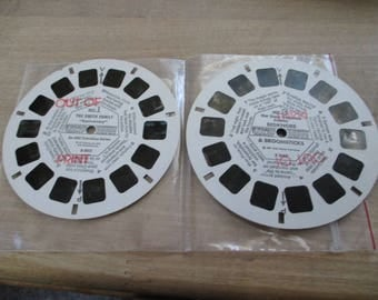 Vintage, Antique Viewmaster reels-2 out of print-Bedknobs & Broomsticks-Smith Family  No longer produced- from collection of over 100 reels.