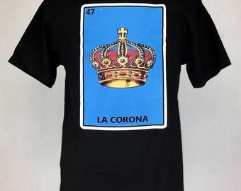 LA CORONA - LOTERIA silk screen print graphic tee