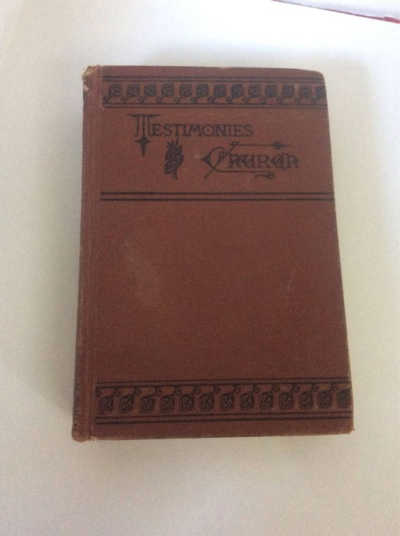 Testimonies for the Church by Mrs. E.G. White volume 7 number 35, 1902, the work of soul saving, Antique book from 1902, book collectors