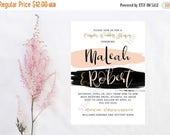 Couples Shower Invitation - Wedding Shower Invitation - Bridal Shower Invitation - Modern Bridal Shower - Modern Wedding - Blush and Black