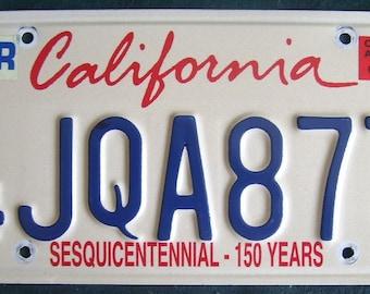 CALIFORNIA 4JQA877 American License Number Plate