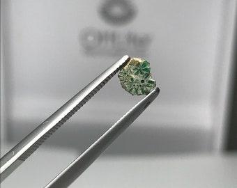 Trapiche Emerald slice Muzo Mine Colombia E0198