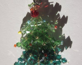 Christmas tree glass 4.8 cm (A85) shaped charm