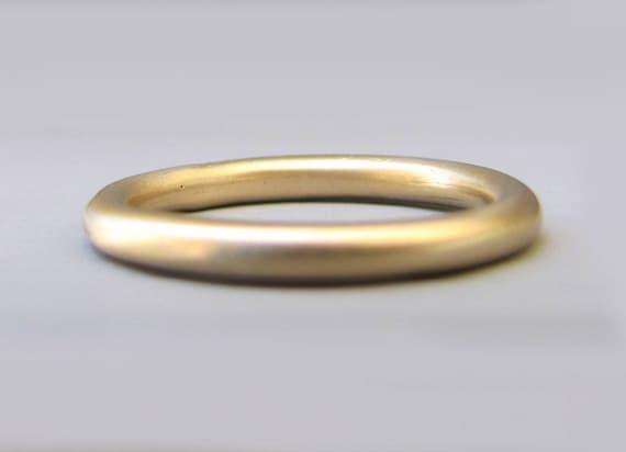Round wedding ring stacking wedding ring gold wedding band like this item junglespirit Choice Image