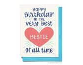 Birthday Card for Best Friend - BFF Birthday Card - Bestie Birthday Card - Birthday Card for Her - Gift Idea for friend Hennel Paper Co BD46