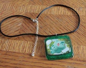 Bulbasaur Pokemon Card Necklace