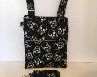 Skull shoulder bag