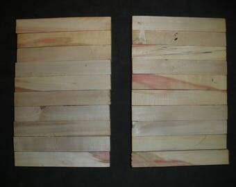 20 Red  BOX ELDER  Turning Wood Pen  Razor Blanks # BE1