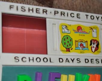 1972 Fisher Price School Days Desk