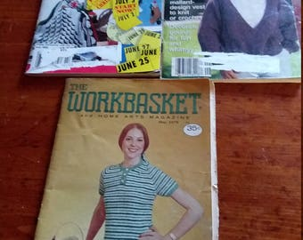 Vintage Workbasket instruction magazines
