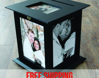 Black Wedding Card Box with NO Personalization