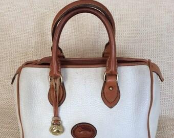20% SUMMER SALE Genuine vintage DOONEY & Bourke white leather satchel bag Awl speedy