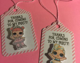 LOL Surprise Dolls Tags Qty: 12
