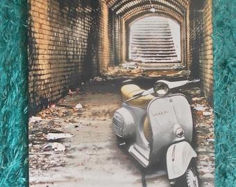 "Vespa Scooter Northern Sole Mod Urban Pop Art print 16.5 x 11.5"""