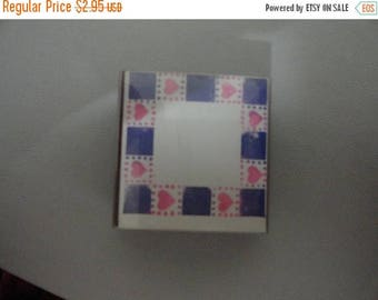 50% OFF Heart Border pattern stamp 1.5 by 1.5 inch Vintage Wooden rubber stamp