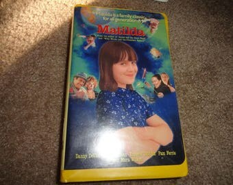 Matilda Disney collectible vhs tape vintage vcr -vcr-vhs-tape-vhs tape- vcr tape- vcr machine- tape player--Disney-