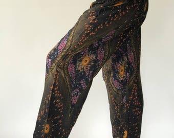 SM0015 Smock Genie Pants Comfy Trouser, Gypsy Pants Rayon Pants,Aladdin Pants Maxi Pants Boho Pants