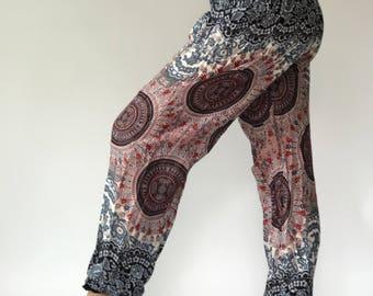 SM00 Smock Aladdin Pants Pants Boho Pants Gypsy Pants Rayon Pants