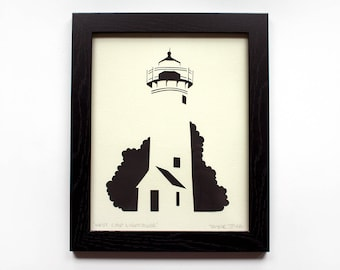 West Chop Cut Paper Lighthouse (Tisbury, Martha's Vineyard) - Plain
