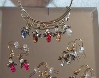 CLEARANCE Angels Charms Earrings by Woven Beads