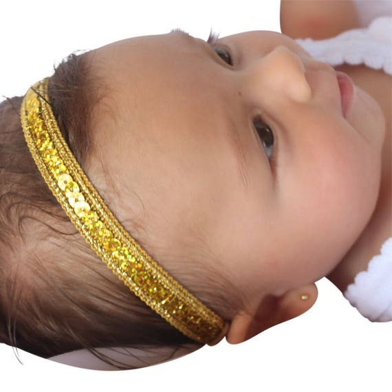 Gold Headband, Infant Headbands, Baby Headband, Halo Headband, Gold Headband, baby headband, baby girl, newborn headband
