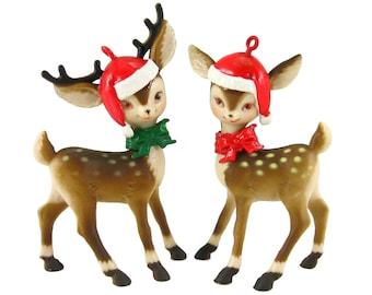 Reindeer ornament | Etsy