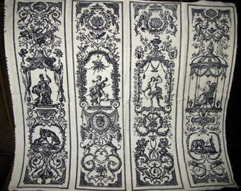 Romanex de Boussac Fabric, French Grand Teint Lavage Garanti, 4 panel picture