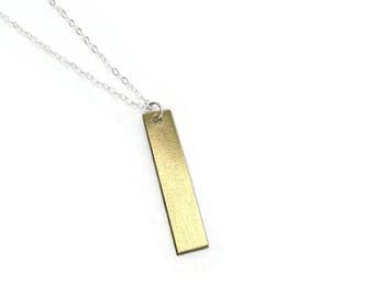 Gold Bar Necklace - READY TO SHIP