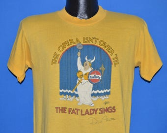 70s Washington Bullets Fat Lady Sings t-shirt Medium