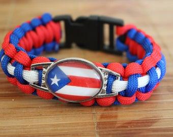Puerto Rico Paracord Bracelet